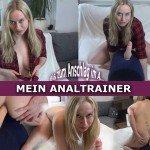 SophiaGold den Sybian als Analtrainer bis Anschlag in der Arschfotze